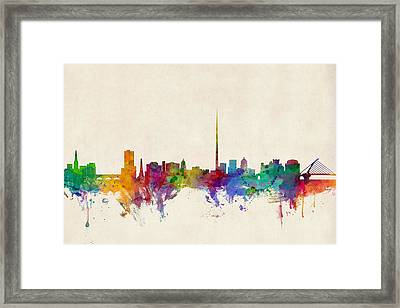 Dublin Ireland Skyline Framed Print