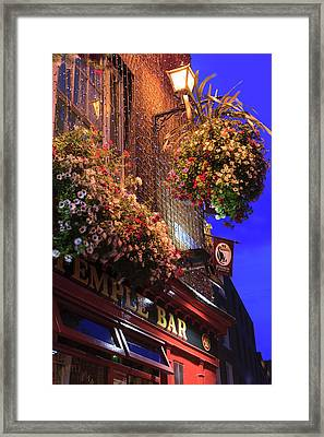 Dublin, Ireland Temple Bar Area Framed Print by Tom Norring