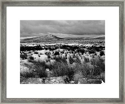 Dublin Mountains In Winter Ireland Framed Print by Jo Collins