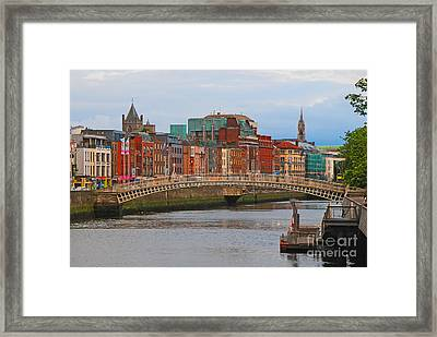 Dublin On The River Liffey Framed Print