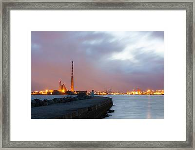 Dublin Port At Night Framed Print