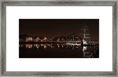 Dublin Quay Scape Framed Print by David Joyce