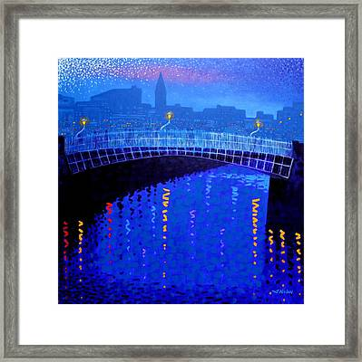 Dublin Starry Nights Framed Print