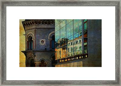 Dublin Streets. Glass Reflections. Painting Collection Framed Print