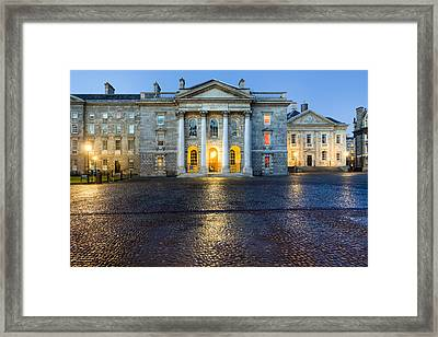 Dublin Trinity College Chapel At Night Framed Print by Mark E Tisdale