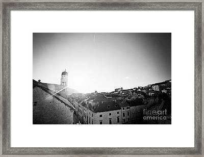 Dubrovnik Black And White Framed Print by Erin Johnson