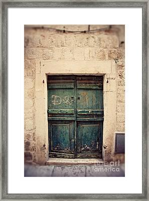 Dubrovnik Croatia Door II  Framed Print by Erin Johnson