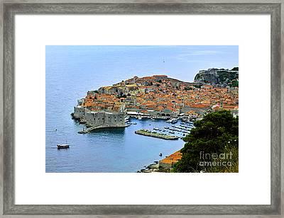 Dubrovnik Croatia Framed Print by Lutz Baar