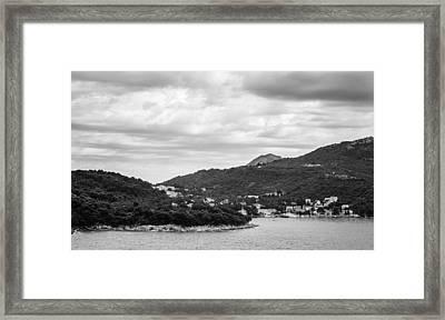 Dubrovnik Landscape Bw Framed Print by Matti Ollikainen