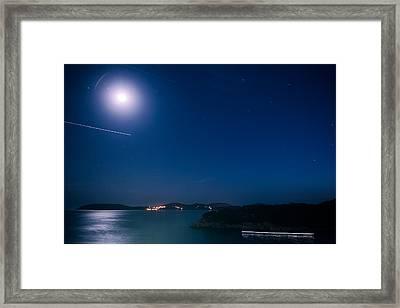 Dubrovnik Night Traffic Framed Print by Matti Ollikainen