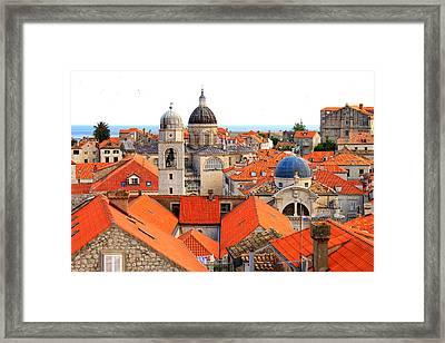 Dubrovnik Rooftops Framed Print