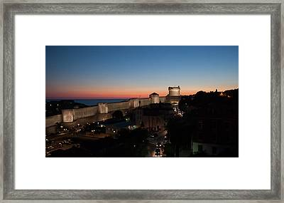 Framed Print featuring the photograph Dubrovnik by Silvia Bruno