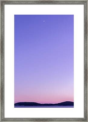 Dubrovnik Sunset And Moon Framed Print