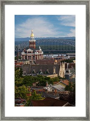 Dubuque Iowa Framed Print by Jane Melgaard