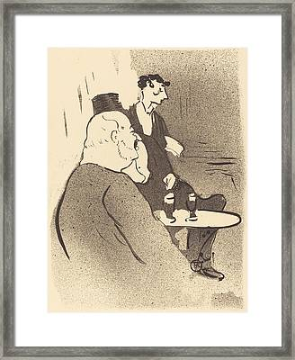 Ducarre At The Ambassadeurs Framed Print by Toulouse-Lautrec