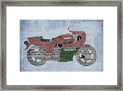 Ducati 900 1983 - Old Newspaper Framed Print by Pablo Franchi