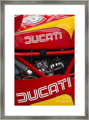 Ducati 900ss Tt2 Motorcycle  Framed Print by Tim Gainey