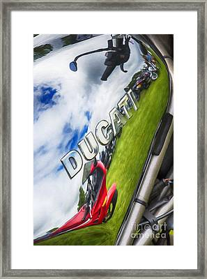 Ducati Chrome Framed Print by Tim Gainey