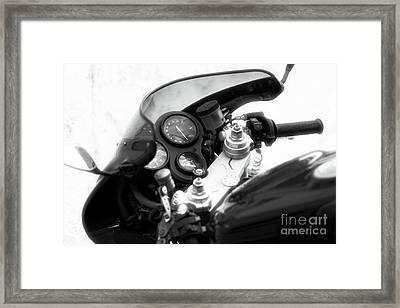 Ducati Control Framed Print by John Rizzuto