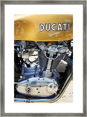 Ducati Desmo Mk 3 450cc Framed Print by Tim Gainey
