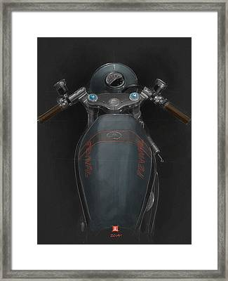 Framed Print featuring the drawing Ducati by Jeremy Lacy