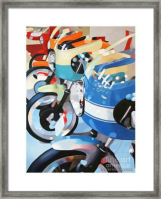 Ducati Line Framed Print by Guenevere Schwien