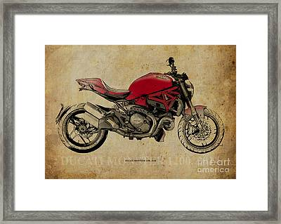 Ducati Monster 1200 - 2014 Framed Print by Pablo Franchi