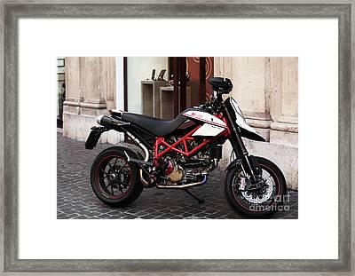 Ducati Motor Cross Framed Print by John Rizzuto