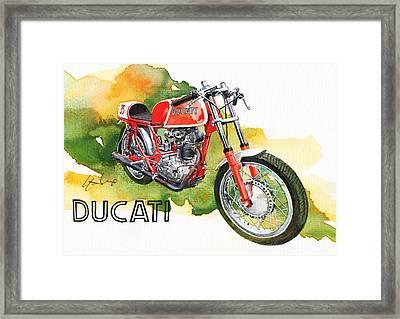 Ducati Racer Framed Print by Yoshiharu Miyakawa