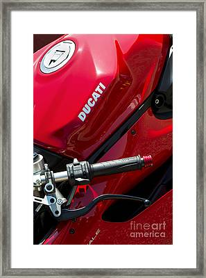 Ducati Red Framed Print by Tim Gainey