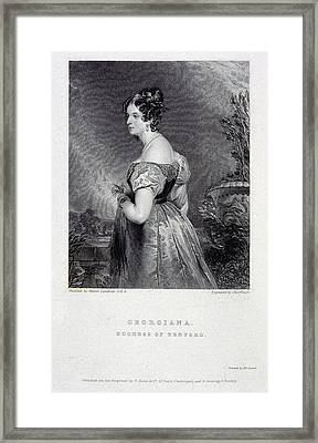 Duchess Of Bedford Framed Print by British Library