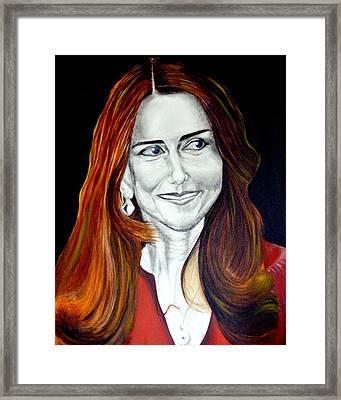 Duchess Of Cambridge Framed Print