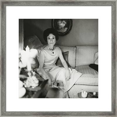 Duchess Of Windsor In Her Paris Home Framed Print