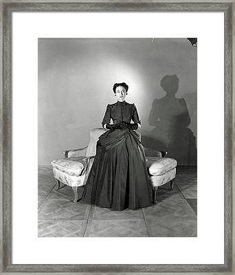 Duchess Of Windsor In Mainbocher Gown Framed Print