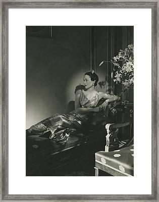 Duchess Of Windsor Reclining Framed Print