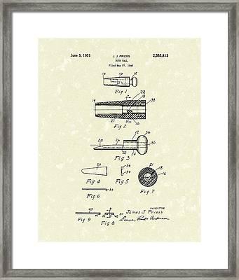 Duck Call 1951 Patent Art Framed Print