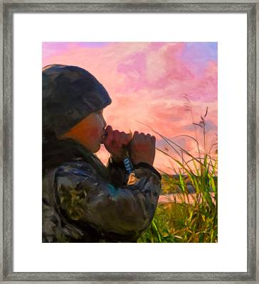 Duck Call Framed Print by Michael Pickett