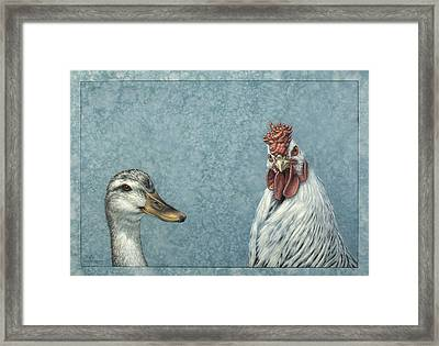 Duck Chicken Framed Print by James W Johnson