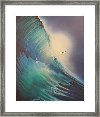 Duck Dive Framed Print
