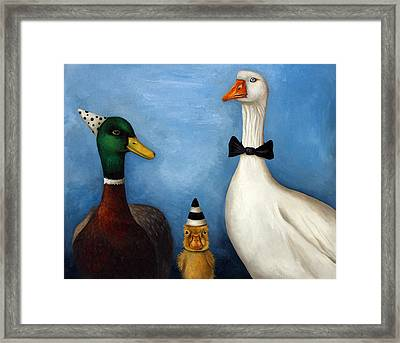 Duck Duck Goose Framed Print by Leah Saulnier The Painting Maniac