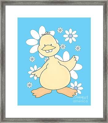 Duck Friend Created By Kidslolll 20_24 Framed Print