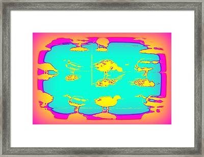 The Ducks Must Have Their Own Heaven Framed Print by Hilde Widerberg