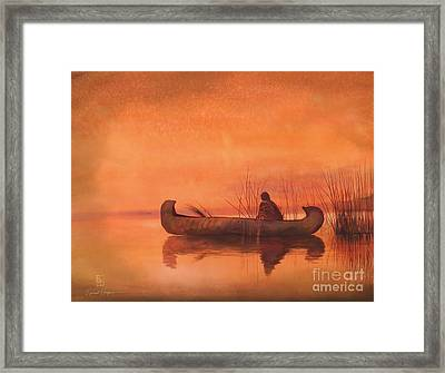 Duck Hunter Framed Print by Robert Hooper