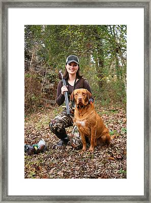 Duck Hunter Framed Print by Suzi Nelson