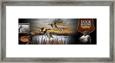Duck Hunting An American Tradition Framed Print by Retro Images Archive