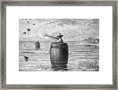 Duck Hunting Framed Print by Bildagentur-online/tschanz
