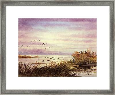 Framed Print featuring the painting Duck Hunting Companions by Bill Holkham