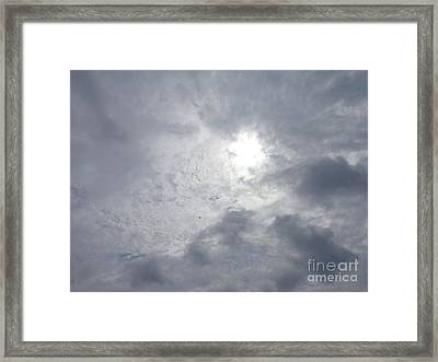 Framed Print featuring the photograph Duck In Beautiful Sky by Christina Verdgeline