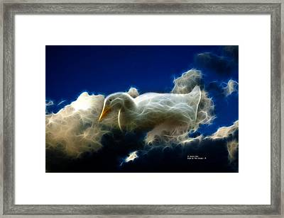 Duck In The Clouds - F Framed Print