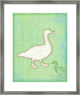 Duck Framed Print by Jennifer Pugh